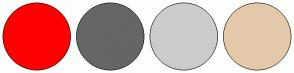 Color Scheme with #FF0000 #666666 #CCCCCC #E3C9A9