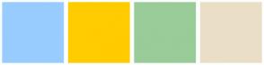 Color Scheme with #99CCFF #FFCC00 #99CC99 #EBDEC7