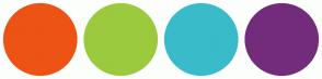 Color Scheme with #ED5314 #9BCA3E #3ABBC9 #732C7B