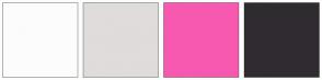 Color Scheme with #FCFCFC #E0DCDC #F759B0 #302B30