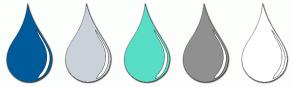 Color Scheme with #005B9A #CBD1D8 #58DDC6 #909090 #FFFFFF