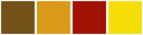 Color Scheme with #73521A #D99A1A #A31303 #F5DE05