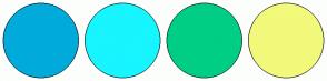 Color Scheme with #00ABDB #17F5FF #00CE85 #F2F97B