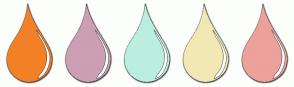 Color Scheme with #F28128 #CC9FB3 #BBEEDE #F2E8B3 #ECA19A