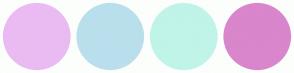 Color Scheme with #EABBF2 #BADFEC #C0F4E8 #D986CC