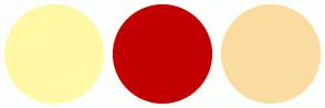 Color Scheme with #FFF8A4 #C30000 #FBDCA0
