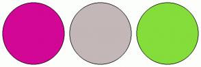 Color Scheme with #D20796 #C3B7B7 #84DD3A