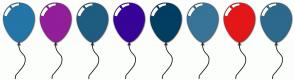 Color Scheme with #2376A7 #921E9A #1F5C80 #380398 #013E62 #377498 #E31717 #2C698D