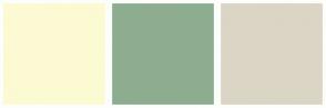 Color Scheme with #FCFAD2 #8EAD90 #DBD5C5