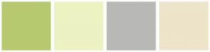 Color Scheme with #B7C96F #EDF2C2 #B8B8B6 #EDE4CA