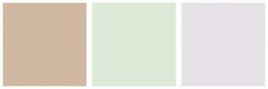 Color Scheme with #D1B8A3 #DCEBD8 #E5E3E6