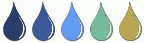 Color Scheme with #293E6A #3B5998 #639BF1 #77BA9B #B6A754