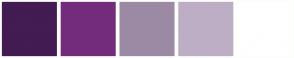 Color Scheme with #421C52 #732C7B #9C8AA5 #BDAEC6 #FFFFFF