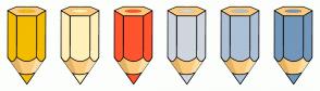 Color Scheme with #F2BC00 #FFF0BA #FF542E #CFD6DE #ADC1D6 #7297BA