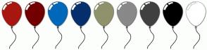 Color Scheme with #A81710 #720100 #0069BA #052F6D #90926B #898989 #404040 #000000 #FFFFFF