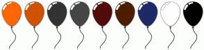 Color Scheme with #FF6600 #CF5300 #333333 #464646 #520C0C #4D1E00 #1D2A67 #FFFFFF #000000