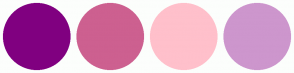 Color Scheme with #800080 #CD6090 #FFC0CB #CD96CD