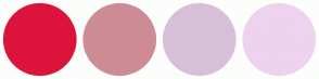 Color Scheme with #DC143C #CD8C95 #D8BFD8 #EED2EE