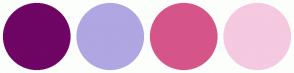 Color Scheme with #6F0564 #B0A6E2 #D65589 #F5C9E0
