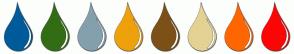 Color Scheme with #005B9A #326D15 #83A0AC #EEA10B #7C5016 #E3D293 #FF6600 #FC0606