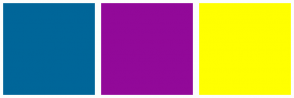 Color Scheme with #006699 #920999 #FFFF00