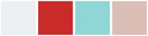 Color Scheme with #ECEFF2 #CA2A2A #90D6D6 #DBBFB7