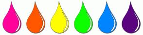 Color Scheme with #FF039A #FF5700 #FFFE03 #0DFF00 #0085FF #5B0480