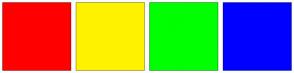 Color Scheme with #FF0000 #FFF200 #00FF00 #0000FF