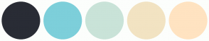 Color Scheme with #292C35 #7DCFDA #C9E3D8 #F2E3C2 #FFE3C1
