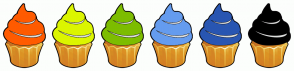 Color Scheme with #FF5B00 #DCF600 #7DBD00 #659CEF #2956B2 #000000