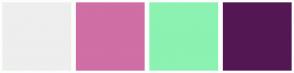 Color Scheme with #EEEEEE #D06EA6 #8BF2B2 #531854