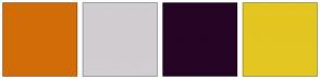 Color Scheme with #D16D08 #D1CDD1 #250426 #E3C622