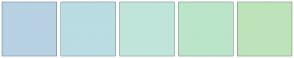Color Scheme with #B7D1E3 #BADCE3 #BFE5DB #BAE5C8 #BEE3BA