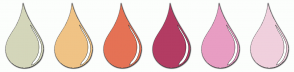 Color Scheme with #D4D6BA #F0C385 #E57255 #B33C63 #E89DC3 #F0D0DD
