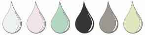 Color Scheme with #EEF2EE #F0E5EB #B2D7C0 #373637 #9C9790 #DFE7BC