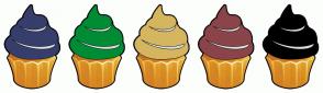 Color Scheme with #363E6C #008C34 #D5B65F #8A444A #000000
