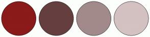 Color Scheme with #8B1A1A #653F3F #A28A8A #D4C1C1