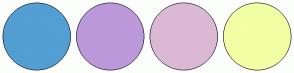 Color Scheme with #539ED2 #BC99DA #DBB9D5 #F2FFA4