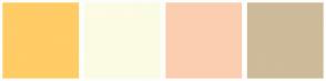 Color Scheme with #FFCC66 #FCFBE3 #FBCEB1 #CDBB99