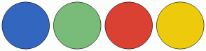 Color Scheme with #3366BE #79BB79 #DB4133 #EDCB0C