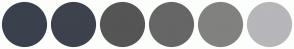 Color Scheme with #39414C #3D424C #555555 #666666 #81817F #B7B6BA