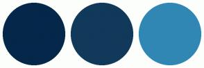 Color Scheme with #04274A #11395A #3087B4