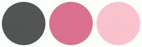 Color Scheme with #535454 #D97190 #F9C2CD