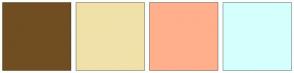 Color Scheme with #704E21 #F0E1A9 #FFAF8C #D5FFFD