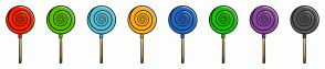 Color Scheme with #F52500 #5AC100 #55C1D8 #FFB01A #246AC7 #19C10B #8C489F #555555