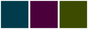Color Scheme with #003C4B #4B003C #3C4B00