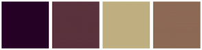 Color Scheme with #260126 #59323C #BFAF80 #8C6954