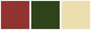 Color Scheme with #92342F #2F431B #EDDEB0