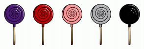 Color Scheme with #4E1C78 #BD0606 #FC9595 #B2B1B3 #000000