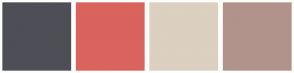 Color Scheme with #4E4E56 #DA635D #DCD0C0 #B1938B